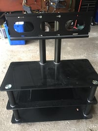 black wooden 3-layer TV stand Grimsby, ON, Canada