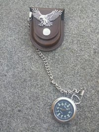 Pocket watch with leather case  Kennewick, 99336