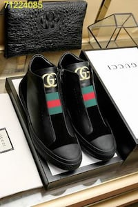 pair of black leather loafers with box Kitchener, N2E 4J5