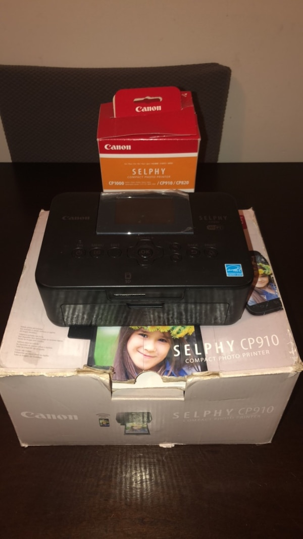 Used Black Canon Selphy Cp910 Compact Photo Printer It Also Come