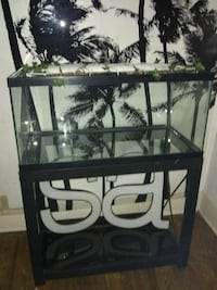 Large aquarium with 8ft bakground steel stand