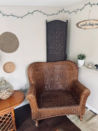 HUGE WICKER BOHO CHAIR