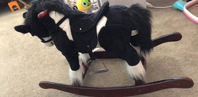 Pony ride on toy with sound