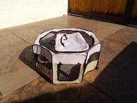 Pink Fabric Pet Kennel/Shelter LAQUINTA