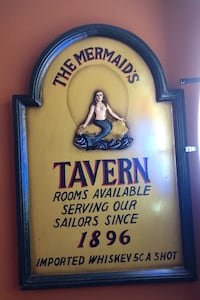Mermaid tavern hand painted Plaque Silver Spring, 20901
