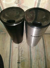 Matching set of stainless steal Starbucks cups Spokane, 99202