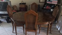 Brown wooden dining table set Tampa, 33615