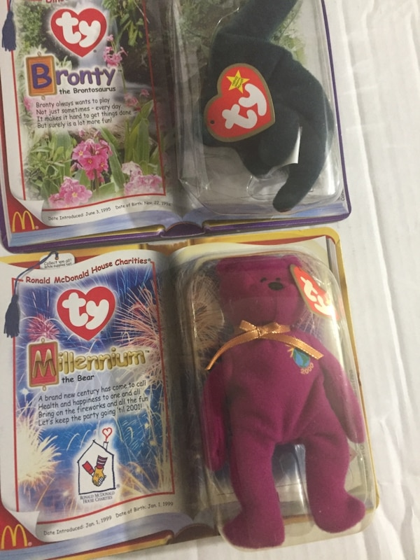 New in package McDonald's TY beanie bears. Maple and Brittania. These are both from 1999. d045295e-6c47-4577-a413-f1612986024d