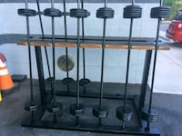 Cast iron weight set with stand rack delivery avai 44 km