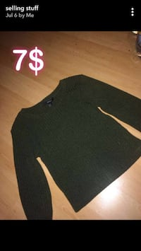 olive green long sleeve top Toronto, M9P 1E5