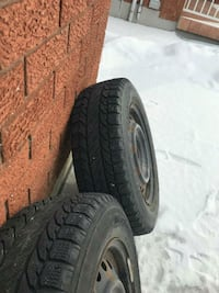 4 winter tires and rims 195 65 16 Etobicoke, M9R