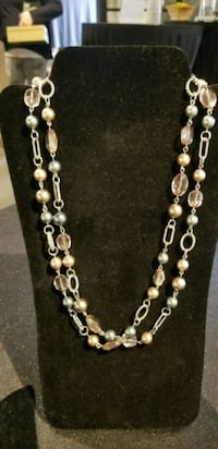 New silver and color beaded long necklace  Rochester, 14624