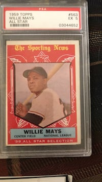 Book1959 Topps    Willie Mays spa ex5 Red Lion, 17356