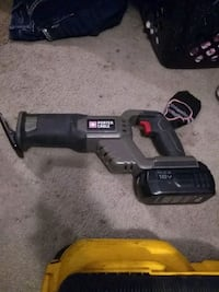 Porter Cable 18v cordless  Reciprocating saw with 1 battery no charger