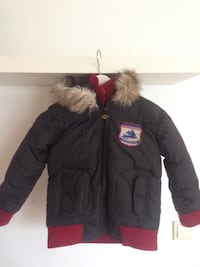svart zip-up parka jakke Tananger, 4056