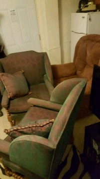 green and brown fabric sofa set Omaha, 68102