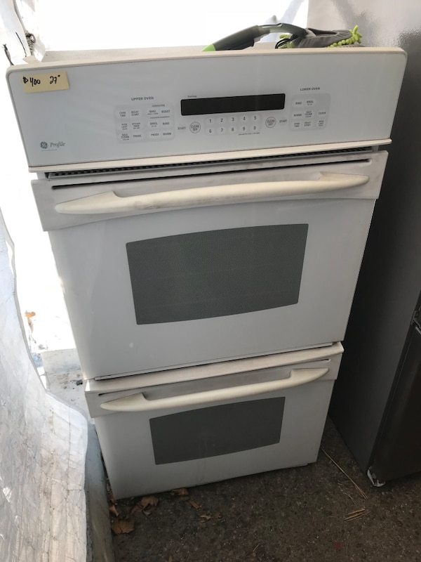 Used Ge White 27 Electric Double Oven 220 Volt For In Whittier