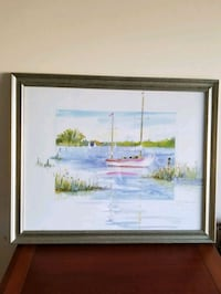 Seascape in lithograph framed and matted  Lawrenceville, 30044