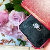 Crystal Heart Silver Ring Mississauga, L4X 1L4