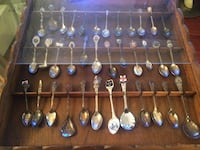 Collection of spoons in showcase  Vancouver, V6H 1S7