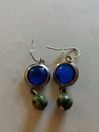 pair of silver-and-blue earrings Neenah, 54956