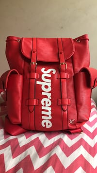 Red Louis Vuitton supreme backpack Washington, 20010