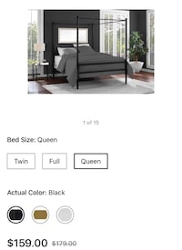 Canopy queen size bed  Fort Washington, 20744
