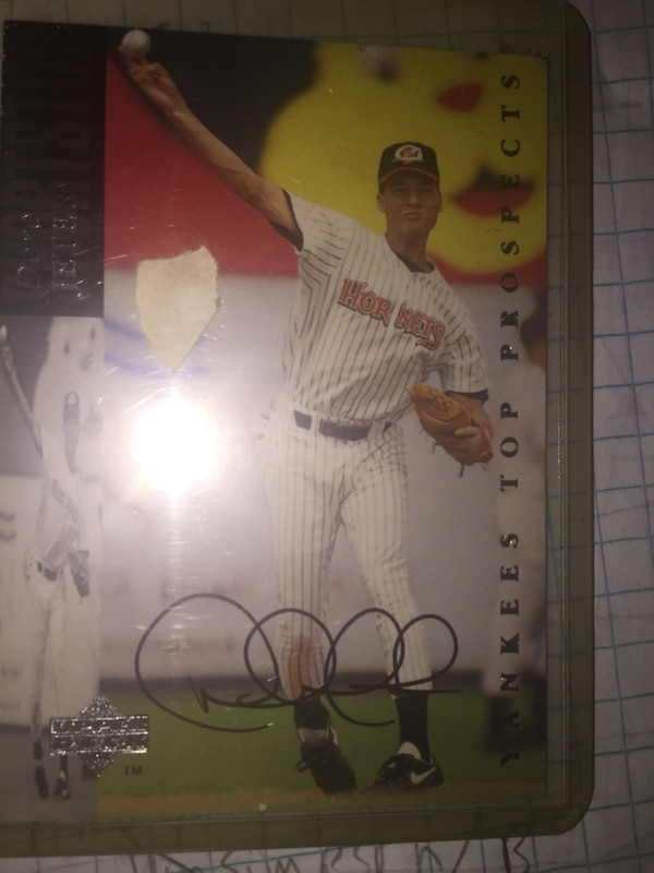 Derek jeter signed card