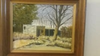 brown wooden framed painting of house Rio Rancho, 87124