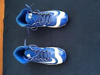 pair of blue-and-white Nike basketball shoes 86 km