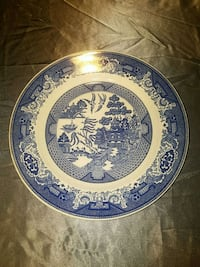 Willow Ware plate Traverse City, 49686