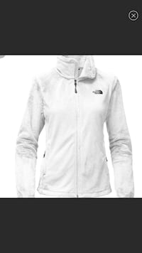 North Face White zip-up jacket Scituate, 02066