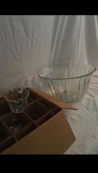 Punch Bowl with 6 Glasses and Ladle Cataula, 31804