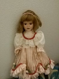 girl doll in white dress Regina, S4P 1R8