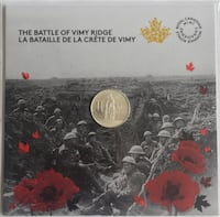 Collectable and Vintage Royal Canadian Mint Vimy Ridge Toronto, M4V 2C1