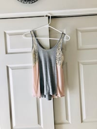Light and Flowy Grey and Pink Tank (S) Odenton, 21113