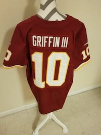 red and white Griffin III 10 jersey