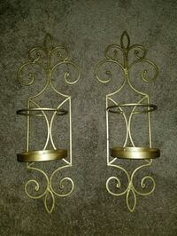 two brown metal candle holders New Cumberland, 17070