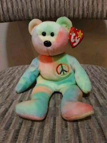 First release peace bear beanie baby
