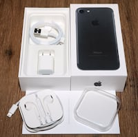 iPhone, 7 Matt Black, 128GB w/ Ted Baker & Original Apple Leather Case plus others  Mississauga, L5M