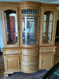 brown wooden framed glass display cabinet Dublin, 94568