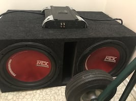 Subwoofer and amp for car