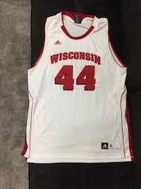 White and red 44 jersey shirt