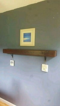 Barnwood shelf,4',special walnut finish  301 mi