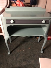 Refinished antique entryway table / desk / vanity