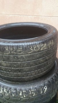 two black car wheels with tires Norfolk, 23523