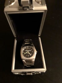 silver analog watch with silver link bracelet Abbotsford, V2T 5E1