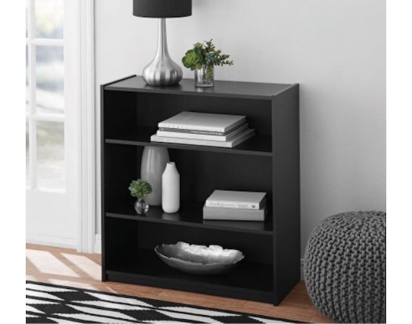 Excellent Mainstays 3 Shelf Bookcase Number Of Shelves 2 Adjustable Shelves Assembled Dimensions 29 69 In W X 11 65 In D X 31 65 In H Download Free Architecture Designs Rallybritishbridgeorg