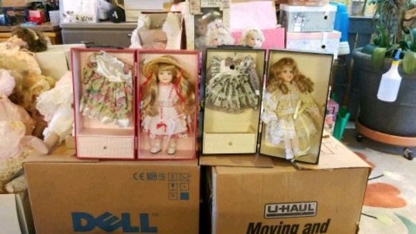 assorted color doll in box