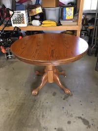 Round oak pedestal table Scurry, 75158